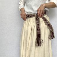 pips / cotton hand woven  belt  / ピップス / 手織りベルト