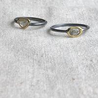 Ishi jewelry/ slice diamond ring / イシジュエリー /スライスダイアモンドリング
