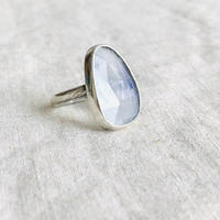 Ishi  jewelry moonstone silver ring / イシジュエリー / 月長石 シルバーリング