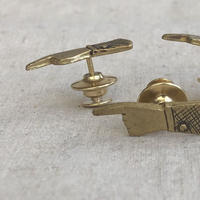 datter industries / pointing hand lapel pin / brass / ダッターインダストリー/真鍮ピン