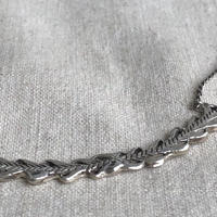 datter industries / laurel crown necklace / silver