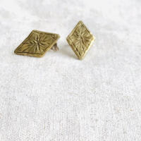 datter industry / starry diamond studs / brass / ダッターインダストリー /真鍮ピアス