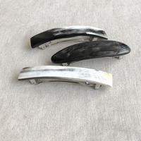 kostkamm / horn hair clip /  8cm / 9533 / コストカム / 水牛角ヘアーバレッタ/8cm