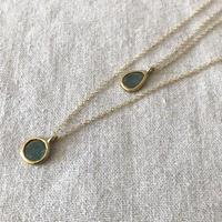 Ishi jewelry slice diamond necklace blue diamond / イシジュエリー /スライスダイヤモンド
