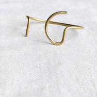 cinq / ellsworth cuff  / brass / 真鍮/バングル