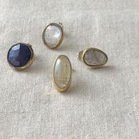ishi jewelry / earring sencillo  / brass bezel