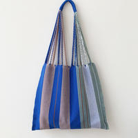pips / cotton handwoven hammock bag /Blue  asymmetry