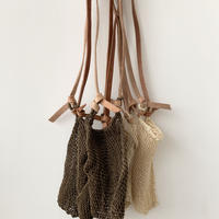 pips agave market bag /mini size /  natural /brown