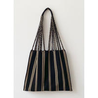 pips / cotton handwoven hammock bag / Black x Beige  / ピップス /ハンモックバッグ