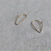 cinq / mini slice earring  /  14k gold  filled