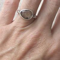 Ishi jewelry / natural stone ring / Rutile quartz / silver ring