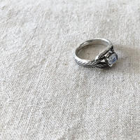 datter industries / moonstone deco ring / silver / ダッターインダストリー / 天然石リング /ムーンストーン