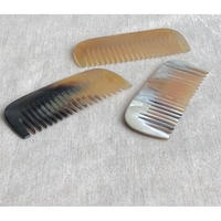 Kostkamm / pocket  comb / 8cm / wide /19H /  コストカム /水牛櫛