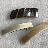 kostkamm / horn hair clip / 6cm /9534 /  コストカム / 水牛角ヘアーバレッタ/6cm