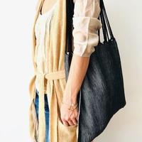 pips / cotton hand woven  hammock bag/ black x natural  / ピップス / コットン ハンモックバッグ