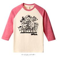 ラグランTシャツ(ジャングルジム・レッド)