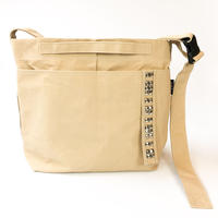 salo canvas sholder bag   w/ studs (large)