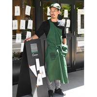 Groen one shoulder apron
