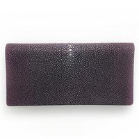 二つ折り長財布【紫】