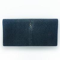 二つ折り長財布【青】