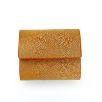 三つ折りコンパクト財布【オレンジ】