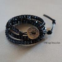 黒の3連Wrap bracelet