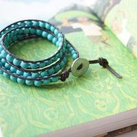 Turquoize 3wrap braceret <NO3>