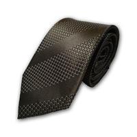 西陣織ネクタイ 茶色 ストライプ(商品番号:051023)