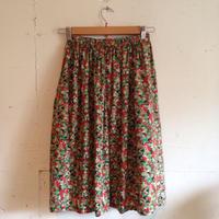 赤い花柄スカート(リバティ)