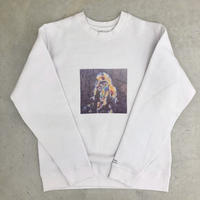 Olaf Breuning×SALT AND PEPPER SweatShirt White
