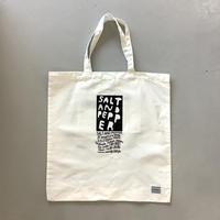 SALT AND PEPPER Tote Bag / White