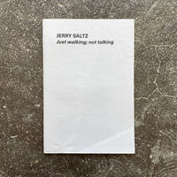 "Jerry Saltz ""Just walking; not talking"""