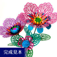 ペーパーフラワー珊瑚花の制作キット(ピンク系)