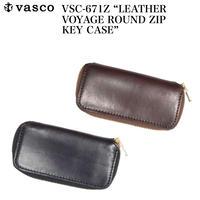 """vasco VSC-671Z """"LEATHER VOYAGE ROUND ZIP KEY CASE"""""""