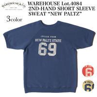 "WAREHOUSE Lot.4084 2ND-HAND SHORT SLEEVE SWEAT ""NEW PALTZ"""