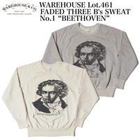 "WAREHOUSE Lot.461 FADED THREE B's SWEAT No.1 ""BEETHOVEN"""