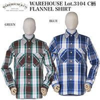 WAREHOUSE Lot.3104 C柄 Flannel Shirt NON WASH