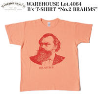 "WAREHOUSE Lot.4064 2ND-HAND B's T-SHIRT ""No.2 BRAHMS"""