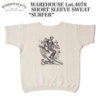 "WAREHOUSE Lot.4078 SHORT SLEEVE SWEAT ""SURFER"""