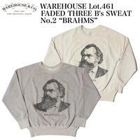 """WAREHOUSE Lot.461 FADED THREE B's SWEAT No.2 """"BRAHMS"""""""