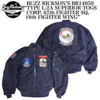 """BUZZ RICKSON'S BR14959 """"TYPE L-2A SUPERIOR TOGS CORP. 67th FIGHTER SQ. 18th FIGHTER WING"""""""