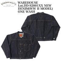 "WAREHOUSE ""Lot.DD-S2001XX NEW DENIM(WWIIMODEL) ONE WASH"""