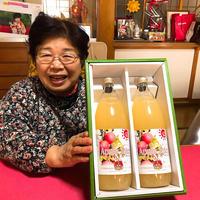 【🍎新登場🍎】陸前高田市米崎町「林の下農園」の完熟りんごジュース100% 2本セット