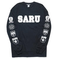 CRAZY SARU L/S Tee[BLACK]