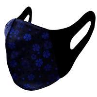 博多織立体型エチケットマスク『kurusyu~nai』 桜  NO.11「ブラック×ブルー」