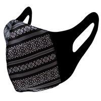 博多織立体型エチケットマスク『kurusyu~nai』 献上 NO.26「ブラック×ホワイト」
