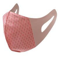 博多織立体型エチケットマスク『kurusyu~nai』 麻の葉 NO.16「ピンク」