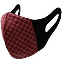博多織立体型エチケットマスク『kurusyu~nai』 市松 NO.24「エンジ」