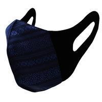 博多織立体型エチケットマスク『kurusyu~nai』 献上 NO.28「ブラック×ネイビー」