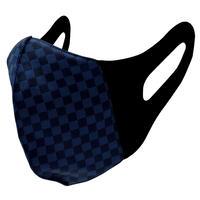 博多織立体型エチケットマスク『kurusyu~nai』 市松 NO.23「ネイビー」